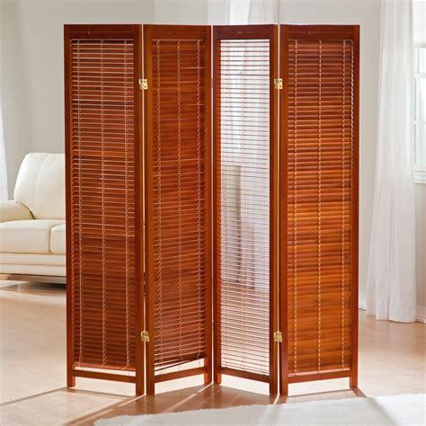 Tranquility Wooden Shutter Screen Room Divider In Honey