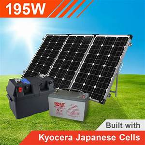 195W Complete Portable Solar Kit with Battery