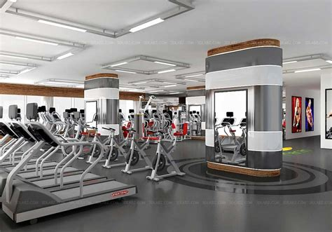 Gym Interior : Gym 3d Interior Price|cost Health Club 3d Rendering India