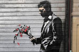 Banksy has created a new work at Larry Flynt's Hustler ...