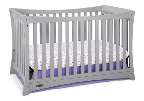 graco tatum 4 in 1 convertible crib pebble gray
