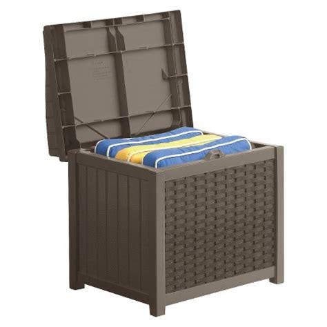 resin wicker storage seat brown suncast target