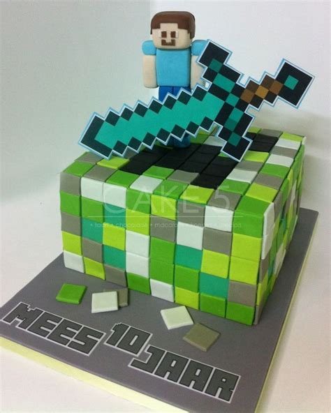 taart minecraft steve cake cakes for the ones minecraft and cakes