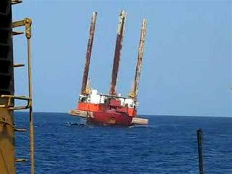 Tug Boat Accidents Youtube by Barge Rolling Around Youtube