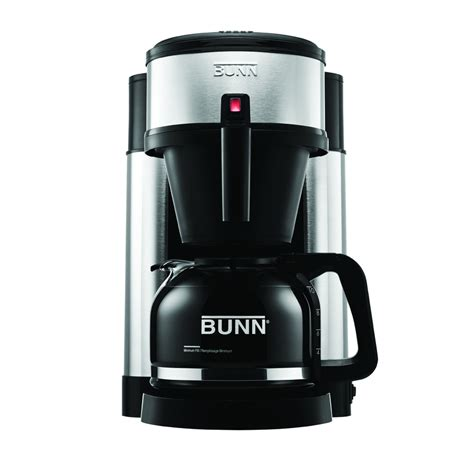 Shop BUNN Stainless Steel and Black 10 Cup Coffee Maker at Lowes.com