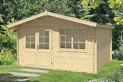 34 Mm Gartenhaus 4x4 M Gerätehaus Holzhaus Holz Schuppen