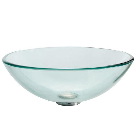 Home Depot Kraus Vessel Sink by Kraus Glass Vessel Sink In Clear Gv 101 The Home Depot