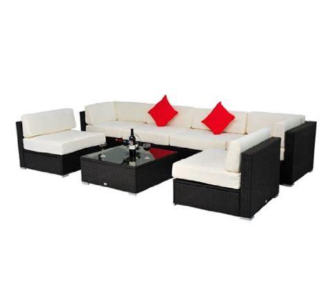 Outsunny Patio Furniture by Outsunny Deluxe Outdoor Patio Pe Rattan Wicker 7 Pc Sofa