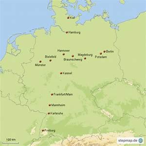Süd Ost West Nord : nord s d und ost west st dtelinie von maxi76 landkarte f r deutschland ~ Markanthonyermac.com Haus und Dekorationen