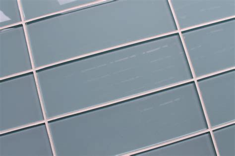 jasper light blue gray 4 quot x 12 quot glass subway tile contemporary tile vancouver by rocky