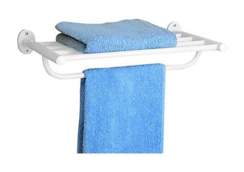 porte serviette 5 barres mural en metal blanc pour salle de bain galedo salle de bain wc