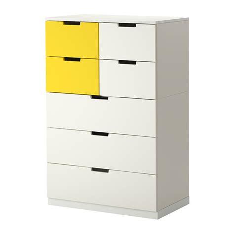 nordli commode 7 tiroirs blanc jaune ikea