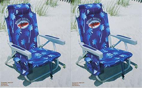 2 bahama 2015 backpack cooler chairs with storage pouch and towel bar blue c stuffs