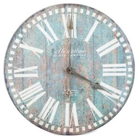 antique blue wall clock shop from hobby lobby decor