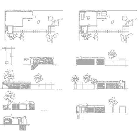 casa per week end dwg le corbusier cad project dwglab