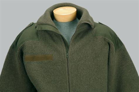Rare Men's Austrian Army Jumper Military Zipper Sweater 100% Wool