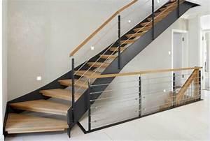 Stahl Holz Treppe : moderne dekoration idee ausen treppengelander ~ Markanthonyermac.com Haus und Dekorationen