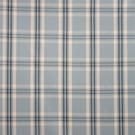 wilton cotton plaid chambray indigo drapery fabric by