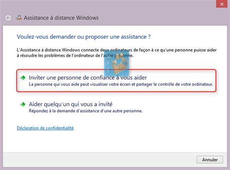 demander une assistance 224 distance via windows 8 et 8 1 astuces windows