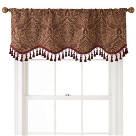 royal velvet 174 vance rod pocket lined scalloped valance found at jcpenney home decor