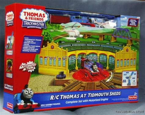 trackmaster tidmouth sheds toys r us trackmaster r c motorized tidmouth sheds ebay
