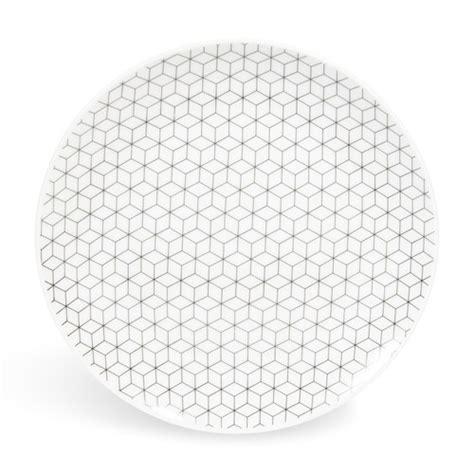 assiette 224 dessert en porcelaine d 19 cm graphique maisons du monde