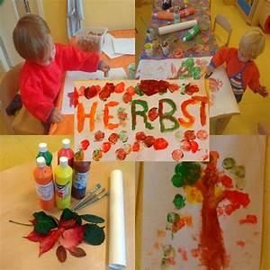 Basteln Im Herbst : basteln in der kita im herbst farbdruck familien in findorff e v ~ Markanthonyermac.com Haus und Dekorationen
