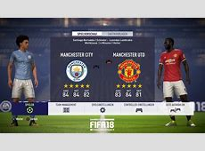 FIFA 18 Gameplay Manchester City vs Manchester United in