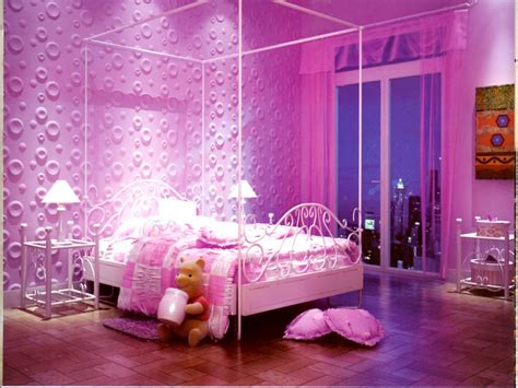 Wallpapers For Bedrooms Walls, Pink And Purple Girls