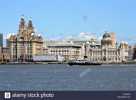 View From Birkenhead Across The River Mersey To The City