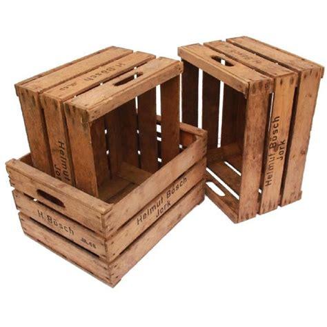 lot de 3 caisses de rangement en bois vintage achat vente boite de rangement soldes d 232 s