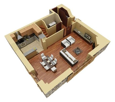 tiny house floor plans small residential unit 3d floor residential duplex 3d floor plan 3d house plans home