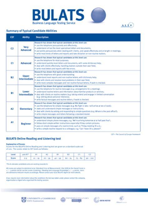 Business Language Testing Service (bulats)  Exams Madrid