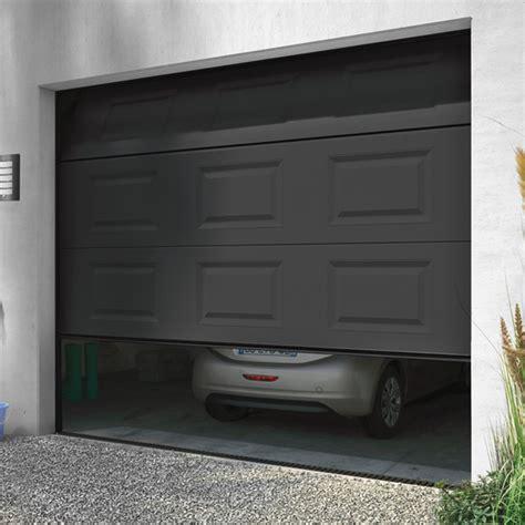 porte de garage sectionnelle motoris 233 e turia anthracite porte de garage castorama ventes pas