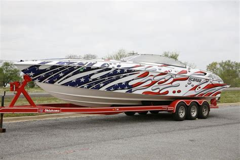 Red Boat Vinyl Wrap by Boat Wraps And Graphics Shine On Signs Seattle Wa