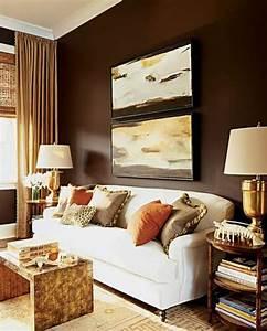 Wandfarben Brauntöne Wohnzimmer : braunt ne als wandfarben wie kann man die braunen w nde dekorieren ~ Markanthonyermac.com Haus und Dekorationen