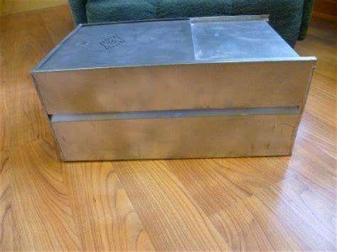 vintage metal bread box drawer insert for hoosier cabinet