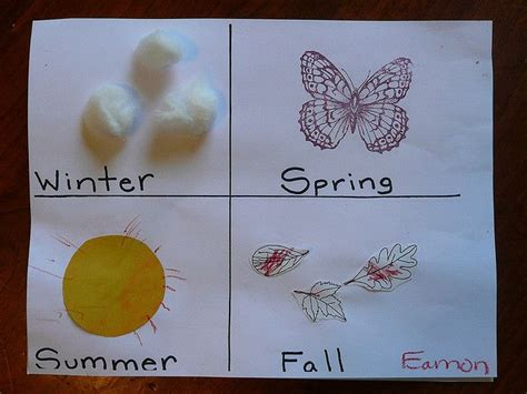 24 Best Images About The Four Seasons  Ideas For Kids On