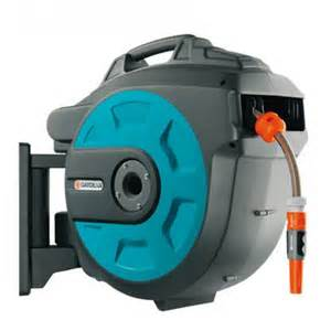 gardena wall mounted hose reel box 20 roll up automatic