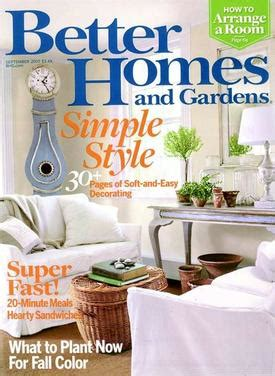 Better Homes Gardens Magazine better homes and gardens the marketects