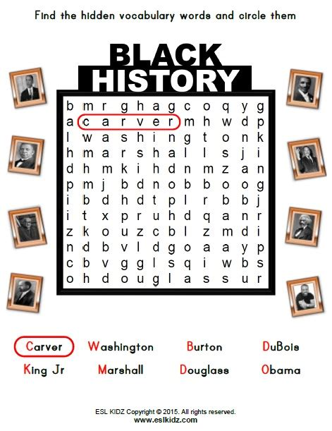 Black History Month  Activities, Games, And Worksheets For Kids