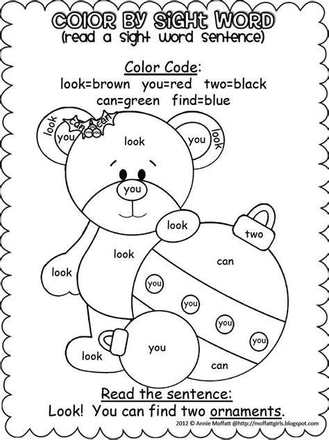 Sight Word Coloring Worksheets  Sight Word Leprechaun Coloring Pagecolor The Presents With See