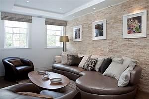 Moderne Wandspiegel Wohnzimmer : steinwand wohnzimmer eine dekorative wand voller charakter und stil ~ Markanthonyermac.com Haus und Dekorationen