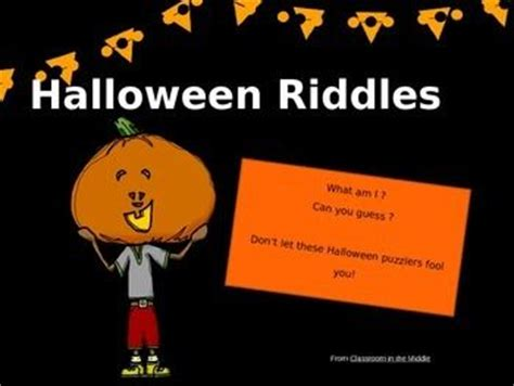 Halloween Fun Riddles by 17 Best Images About Classroom In The Middle Free