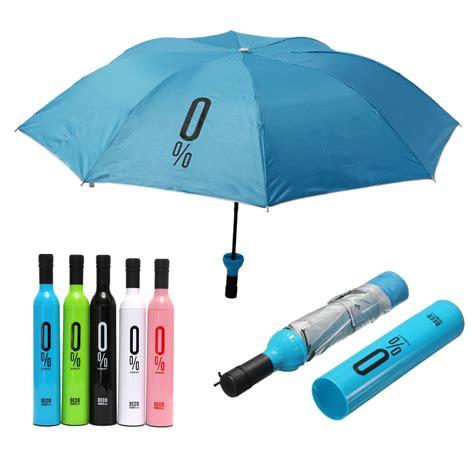 compact automatic umbrella fashion wine bottle folding