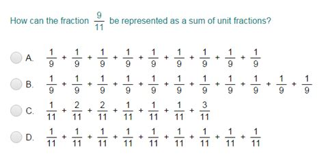 Decompose Fractions Into Unit Fractions Quiz  Turtle Diary