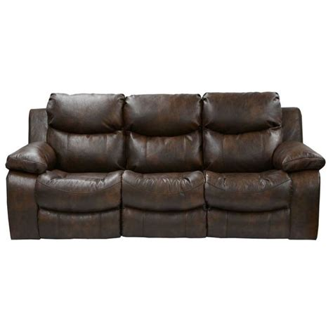 catnapper leather power reclining sofa in timber 64311122319302319