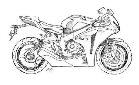 Drawn Motorcycle Sportbike