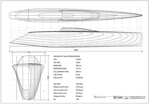 Catamaran Hull Lines by Optimising Hull Lines For Performance Grainger Designs