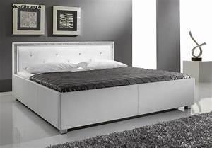 Moderne Betten 140x200 : designer lederbett polsterbett weiss 3 verschiedene kopfteile w hlbar supply24 ~ Markanthonyermac.com Haus und Dekorationen